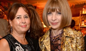 Alexandra Shulman, British Vogue's editor-in-chief, with her counterpart at US Vogue, Anna Wintour.