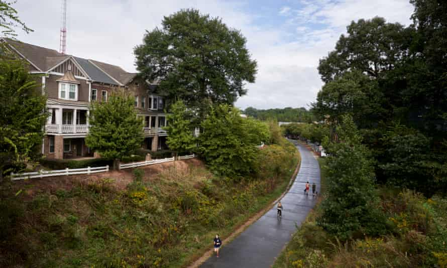 Part of the BeltLine, which some worry is contributing to gentrification and pricing people out of their homes.