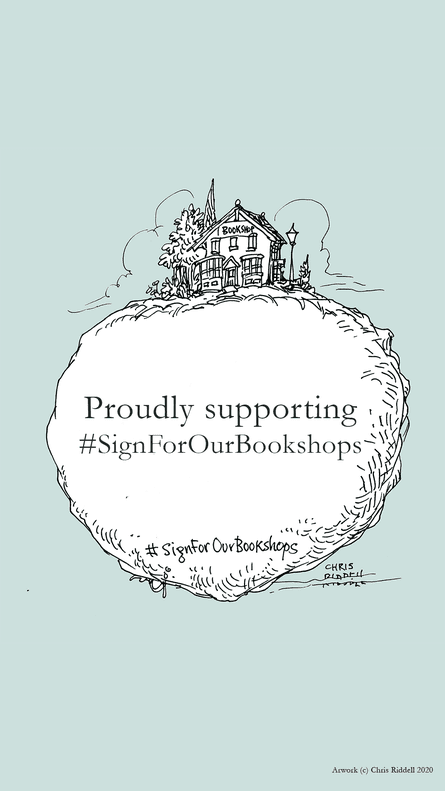Chris Riddell's bespoke bookplate for the campaign.