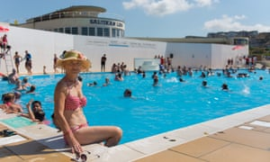 """Helen Lefeuvre, a local, described the reopening of the pool as """"a dream come true""""."""