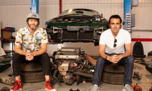 Howard Donald and Dario Franchitti in Mission Ignition.