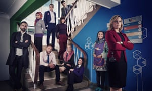 The cast of Ackley Bridge, Channel 4's new weekly series on life in a multicultural academy school in a fictional Yorkshire town.