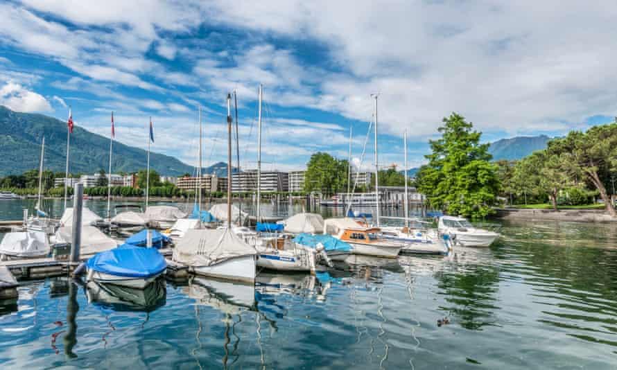Locarno on the banks of Lake Maggiore in Switzerland
