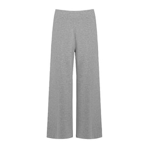 wide legged grey trousers