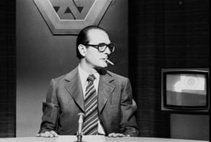 The then French prime minister seen during a TV debate in May 1976