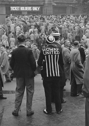 Newcastle United supporters in the crowd for the 1952 FA Cup Final