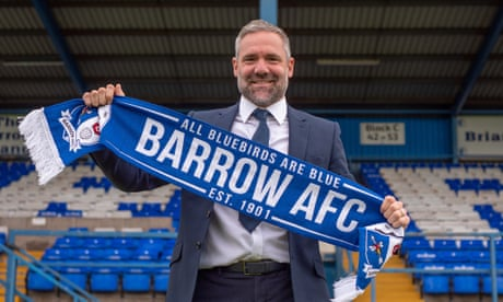 David Dunn appointed as manager of Football League returnees Barrow