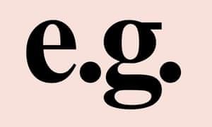 Latin abbreviation – eg