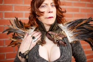 Steam punk Martine Rose, from Sutton-in-Ashfield, Nottinghamshire, organises group visits for the WGW