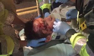 Alexander Browning is taken to hospital after incident.