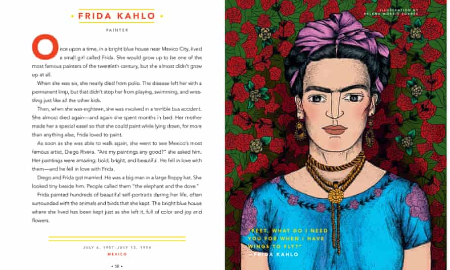 Frida Kahlo story from Goodnight stories for Rebel girls.