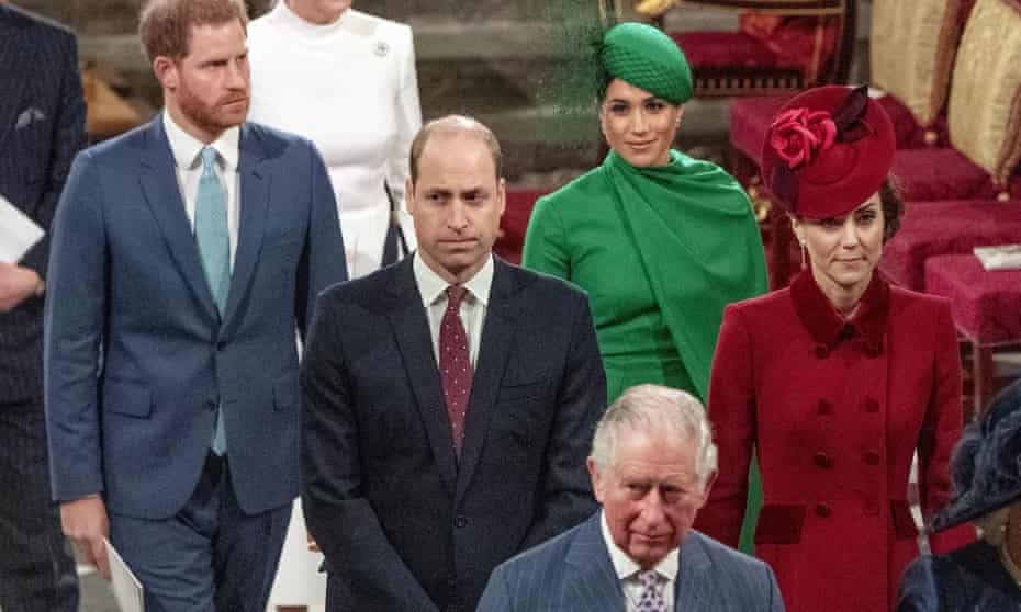 The Duke and Duchess of Sussex during their last public appearance as working members of the royal family.