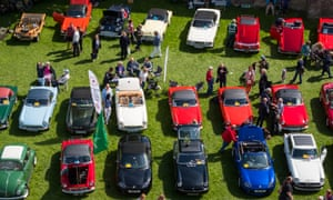 Classic cars at Ludlow Spring Festival.