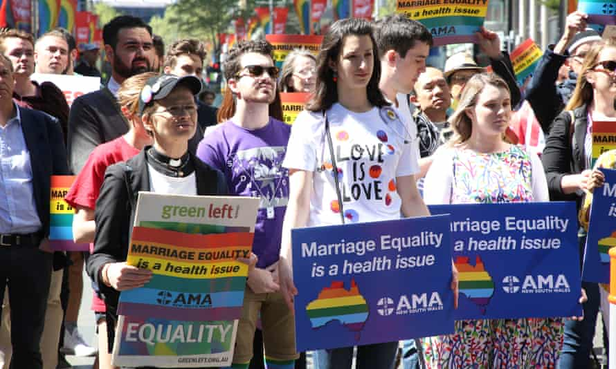 Doctors and medical students show their support for marriage equality