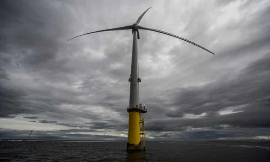 Burbo Bank extension offshore windfarm in Merseyside.