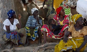Women who fled a previous Boko Haram attack shelter in displacement camp in Yola, the capital of Adamawa state