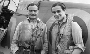 A 1941 photograph taken at Biggin Hill, Kent, of Geoffrey Wellum, right, and Brian Kingcome, another fighter pilot, in front of a Spitfire.