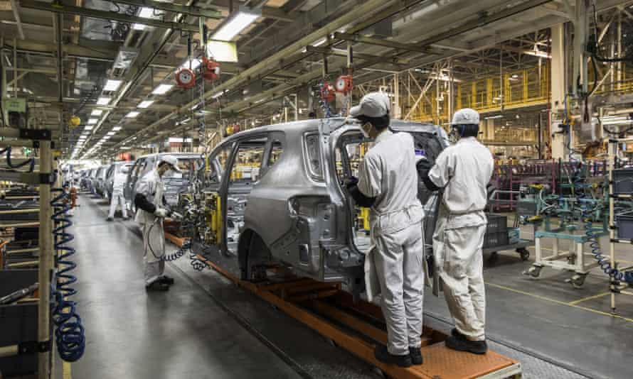 A car production line in China