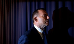 Tony Abbott in the Blue Room of Parliament House when he addressed the media after Malcolm Turnbull's challenge to his leadership