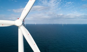 The Hornsea One windfarm, off the coast of Yorkshire. Ofgem wants a fourfold increase in offshore wind power.