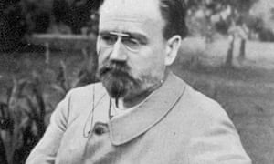"Defender of the downtrodden … Émile Zola ""in his English garden"", 1898."