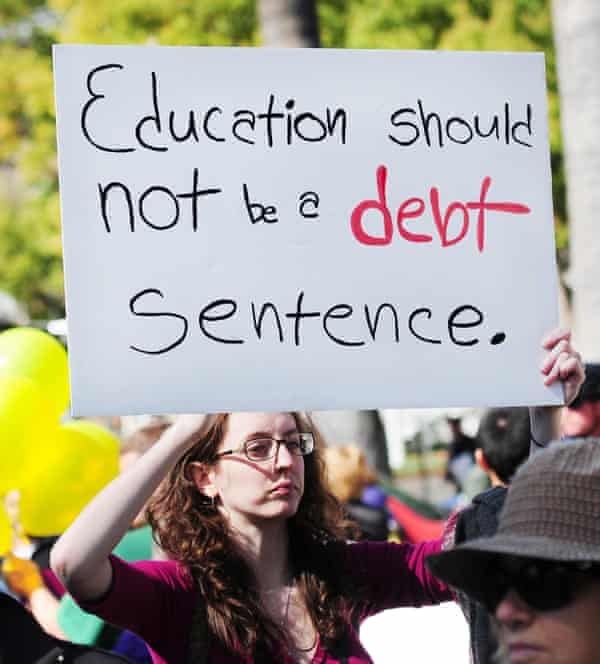 A protest against tuition fees in 2012.