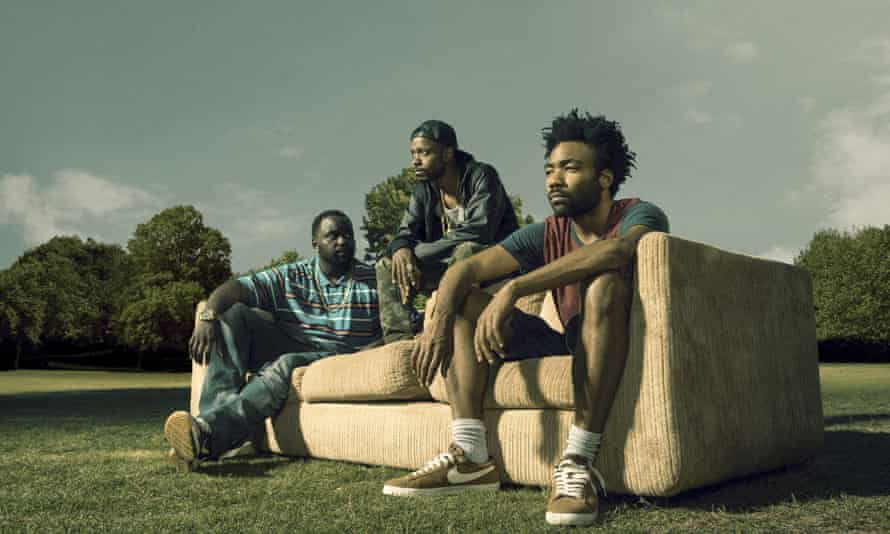 Brian Tyree Henry, Lakeith Stanfield and Donal Glover in the TV series Atlanta.