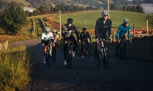 Cent Cols Challenge riders climb early one morning in the High Pyrenees.