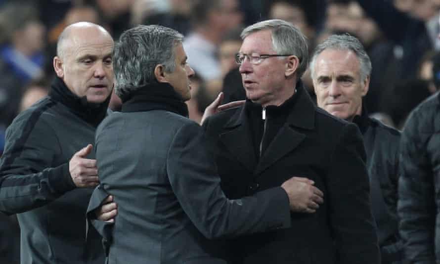 José Mourinho and Sir Alex Ferguson.