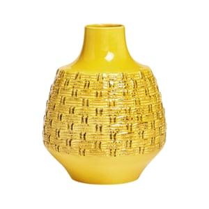 Yellow Weave Detail Vase