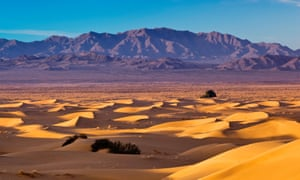 The Mojave desert in California: the US of America City is a nation of choking dust bowls and rotting forests.