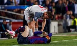 James Milner and Lionel Messi