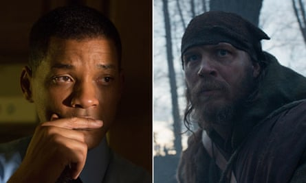 Come again? Will Smith in Concussion and Tom Hardy in The Revenant