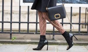 High heels seen at Paris' fashion week.