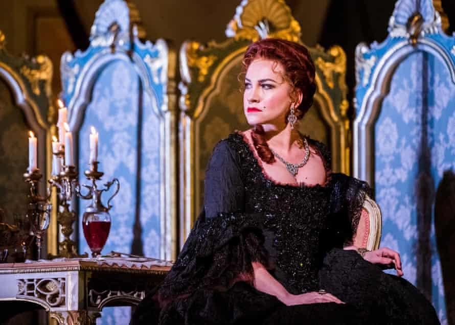 Ksenia Dudnikova as Princesse de Bouillon in Adriana Lecouvreur.
