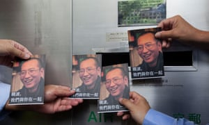 Activists send messages of support to Liu Xiaobo using postcards bearing the image of the democracy campaigner, who has terminal liver cancer.
