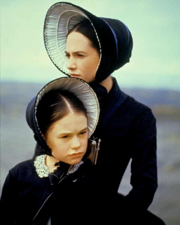 With Holly Hunter in The Piano.