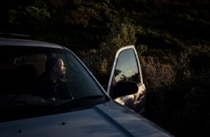 Reginald Miller in his car