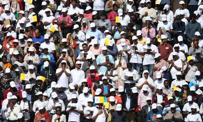 I am blessed': UAE's expatriate workers marvel at mass with the pope