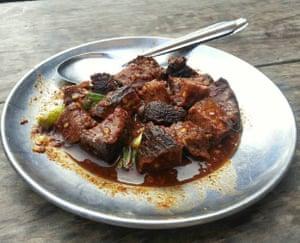 Chhwela, an authentic Newari dish of buffalo meat.