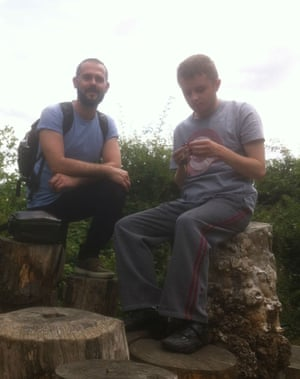 Carer Lukas (left) and Danny