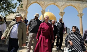 Archbishop of Canterbury Justin Welby walks in Jerusalem's Old City on a visit to the Holy Land