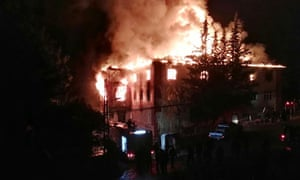 Twelve people, most of them children, were killed when a fire broke out at a school dormitory in Turkey.