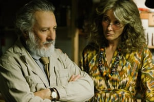 Dustin Hoffman and Emma Thompson in The Meyerowitz Stories.