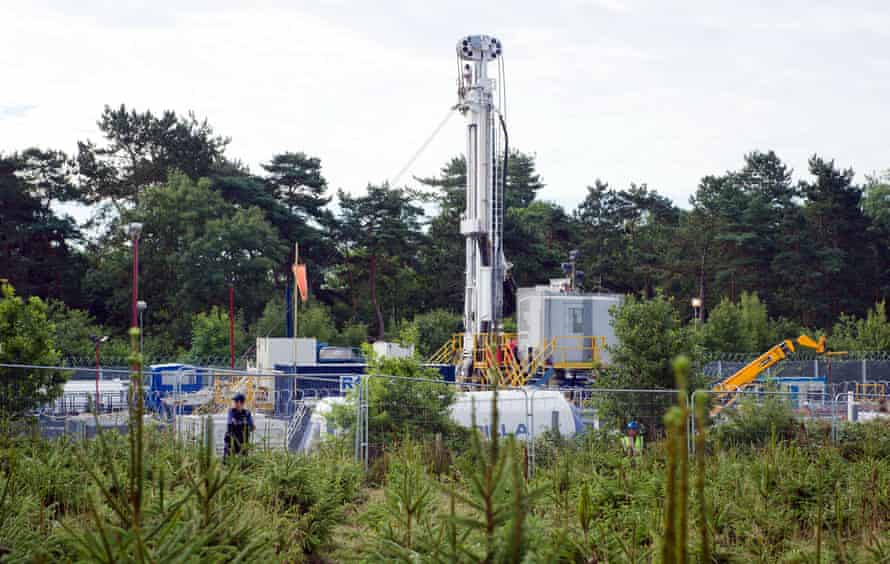 The hydraulic fracturing test site operated by Cuadrilla in Balcombe, England
