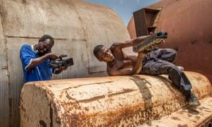 ICG shoots Apollo doing a stunt for Operation Kakongoliro! The Ugandan Expendables