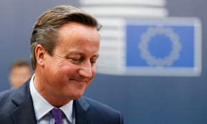 David Cameron at the EU summit in Brussels, October 2015