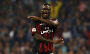 Mario Balotelli has not played for Milan since a defeat by Genoa in September.