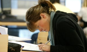 A pupil studies at the Sixth Form College Farnborough