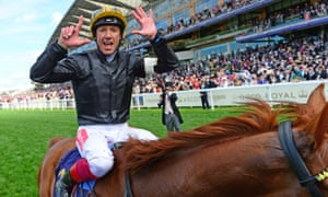 Franke Dettori celebrates claiming his seventh Gold Cup at Royal Ascot on Stradivarius – and his fourth race win in a row on a memorable Thursday.